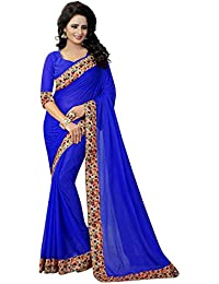 Fashion And Hub Women's Party Wear Cotton Silk Printed Saree (New Collection Saree L1, Free Size)