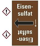 LEMAX® Rohrleitungsband Eisensulfat, praxisbewährt, ab Ø 50mm, braun/weiß, 33m/Rolle