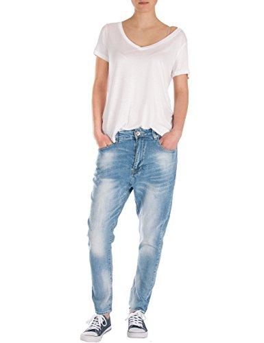 Fraternel Damen Jeans Hose Boyfriend Baggy Used Relaxed fit Hellblau XS / 34 - W28 -