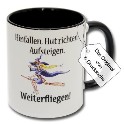 Spruchtasse Funtasse Kaffeebecher Hexentasse Tasse mit Hexen Spruch Teetasse Kaffeetasse Tasse mit Aufdruck Hexe