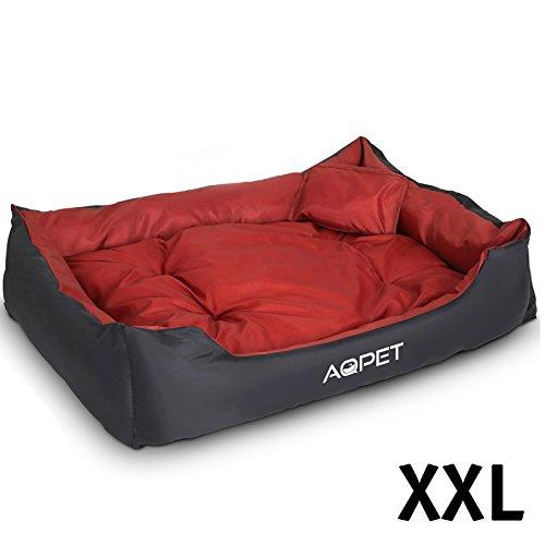 aqpet cuccia letto per cane cuscino lettino divano cani taglia xxl 120 x 90 x 30 cm bordeaux