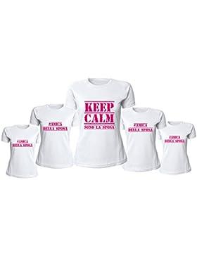 Altra Marca Pacchetto T-Shirt Magliette da Donna Personalizzate per Addii al Nubilato Keep Calm Amica