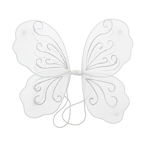 stüm Glitzer-Schmetterlingsflügel Gr. Einheitsgröße, weiß ()