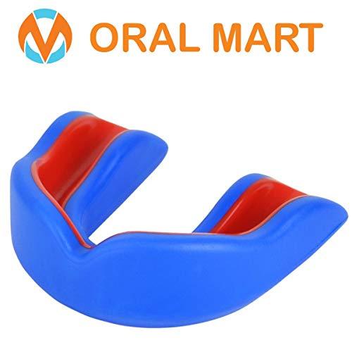 Oral Mart Protector bucal Sports para niños/Adultos (8 Mejores Colores) para el Karate, fútbol de la Bandera, Artes Marciales, Rugby, Hockey, Boxeo (con Funda ventilado)