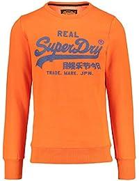 Superdry Vintage Logo Panel Stripe Crew, Sudadera para Hombre