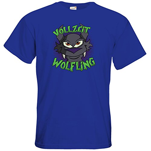 getshirts - Der Wolflings-Shop - T-Shirt - Vollzeit Wolfling Royal Blue
