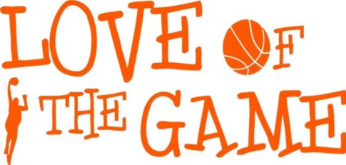 (Top Verkauf Aufkleber–PREISE reduziert: Best Verkauf selbst Transfer: Basketball Love of the Game Spannreifen Team Wandtattoo Größe: 15,2x 40,6cm)
