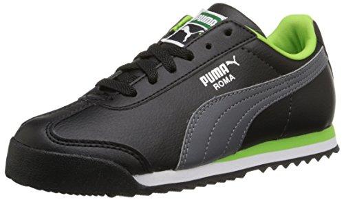Puma Roma Basic Kids Sneaker (Toddler/Little Kid/Big Kid), Black/Steel Gray, 5 M US Toddler (Herren Roma Puma)