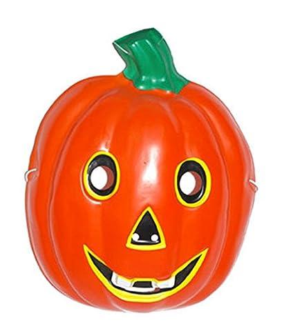 Halloweenia - Halloween Maske Kinder Kostüm - Kürbis Gesichtsmaske, Orange