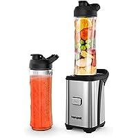 homgeek Frullatore Frullati 350W, Mini Frullatore Portatile, Smoothie Maker con 2 Bottiglie in Tritan da 600 ml, Blender per Frappè, Ghiaccio, Frutta e Verdura, 23000 giri/min, senza BPA