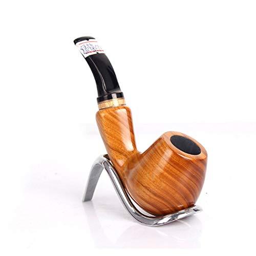YYHSND Herren Räucherwerkzeuge Glattes Grünes Sandelholz-Handrohr Mit Abnehmbarem Reinigungsrohr Tabakpfeife (Der Wort Mit S Bedeutung)
