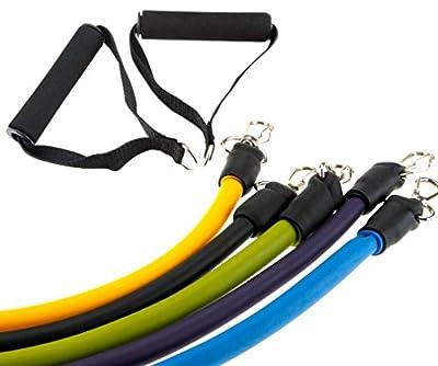 Zuhause Training Widerstandband Kit Set Fitness Yoga Gym 5 Bänder Stufen
