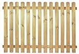 StaketenZaun 'Premium' 180x120/120cm - gerade – kdi/V2A Edelstahl Schrauben verschraubt - aus getrocknetem Holz glatt gehobelt – gerade Ausführung - kesseldruckimprägniert