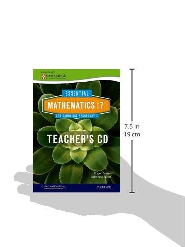 Essential Mathematics for Cambridge Lower Secondary Stage 7 Teacher CD-ROM