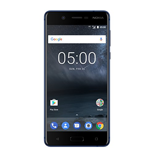 Nokia 5 Smartphone (13,2 cm (5,2 Zoll), 16GB, 13 Megapixel Kamera, Android 7.0, Single Sim) satin-temperiertes-blau, version 2017