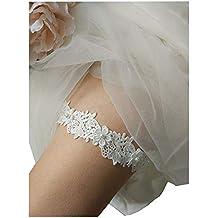 Jarretera Lemandy TD007 de encaje para colocar en la pierna de novias para días de boda