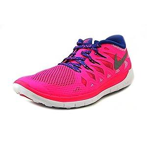 NikeFree 5.0, Hausschuhe für Jungen und Mädchen, rosa - Rosa(hyper pink/metallic silver/royal blue) - Größe: 40 EU