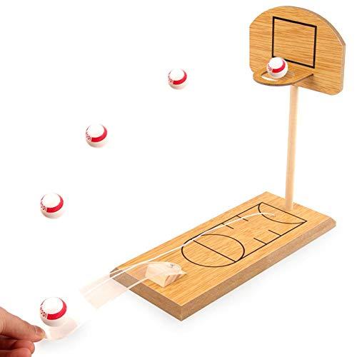 all-Spiel, Tabletop Portable Basketball Schießen Spiel aus Holz Fun Sports Neuheit Spielzeug Familie Reisen oder Office-Spiel-Set ()