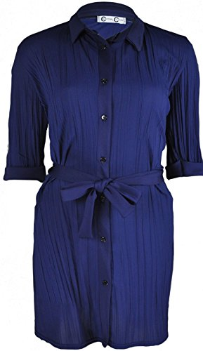 Re Tech UK Damen Blusen Kleid schwarz schwarz 36 Navy