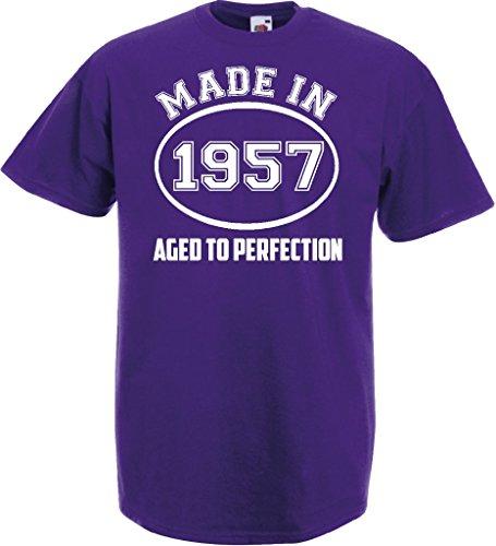 Novelty Gifts Herren T-Shirt, Logo grau asche Violett