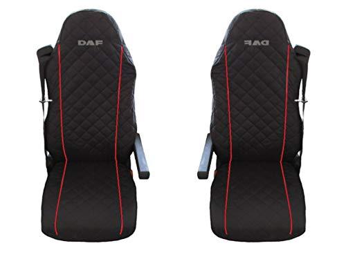 Preisvergleich Produktbild Unknow LKW DAF XF;LF 95;105 2 x LKW-Sitzbezüge Rote Beats / 1 für den Fahrer und 1 für den Beifahrersitz