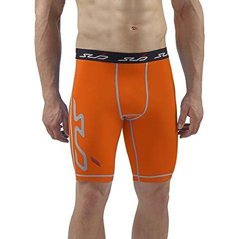 Sub Sports–Maglietta Dual Pantaloncini a compressione, strato Base, Uomo, Orange, XL