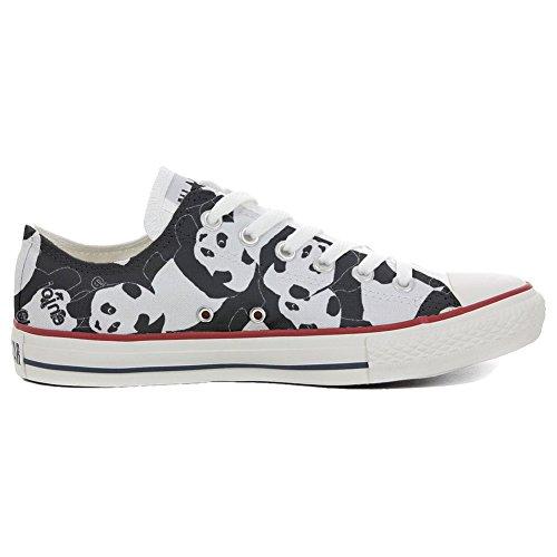Converse All Star personalisierte Schuhe - Handmade Shoes - Panda Style - TG40
