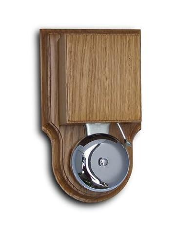 London Doorbell, wired, in varnished Honey Oak