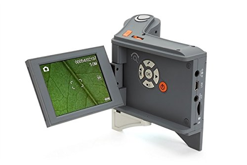 Celestron 44315 Flipview 5 MP LCD Handheld Microscope, Multi Plug