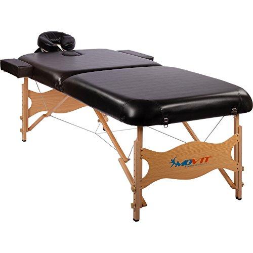 MOVIT® Deluxe Massageliege inkl. Tasche, XXL Breite 80cm, 8cm Polsterung, Vollholzgestell, Farbwahl, schadstoffgeprüft - Deluxe Lupe