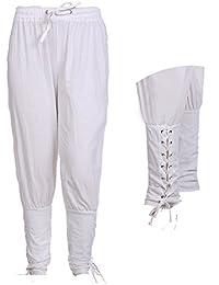 Cheyuan Los pies Pequeños Vendajes Pantalones Casuales Pantalones de Harén Sueltos de Color Sólido Neutral Pantalones de Cintura…