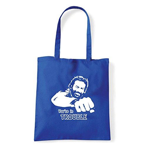 Art T-shirt, Borsa Shoulder Bud Spancer, Shopper, Mare Blu