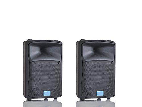 MPE - coppia casse attive bi amplificate 1000 watt musicali 10' 25 Cm acustiche diffusori MADE IN ITALY piano bar dj karaoke discoteca PA mod: DJ-10AL