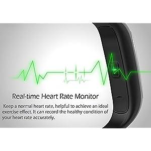 Fitness Tracker Lenovo HW01 Bluetooth 4.2, pulsometro, Monitor de sueño, podómetro, llamada recordatorio, IP65, 0.91 pulgadas O