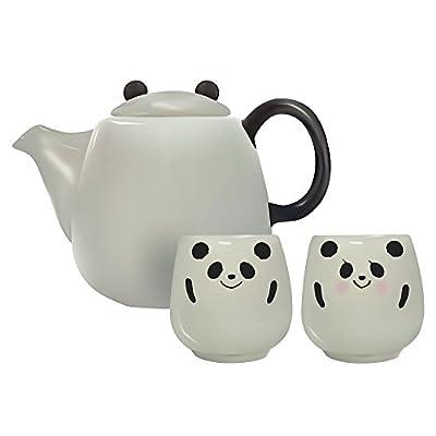 Ensemble à thé avec théière et 2tasses Panda à partir du Japon Lf-0883