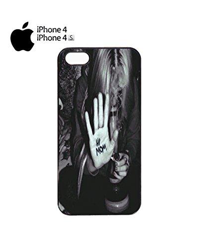 Hi Mum Mariuhanna Bong Naughty Girl Mobile Cell Phone Case Cover iPhone 6 Plus Black Noir