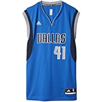 Adidas Int Replica Jrsy Camiseta de Manga Corta de Baloncesto, Hombre, (Nba Dallas
