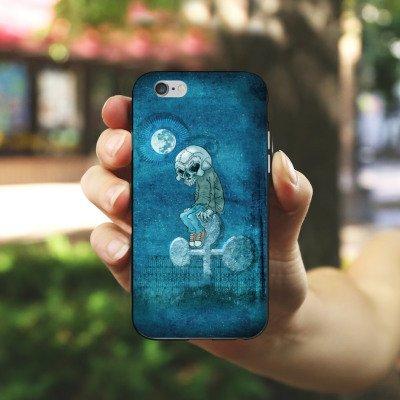 Apple iPhone 5 Housse Étui Silicone Coque Protection Poker Crâne Mort Housse en silicone noir / blanc