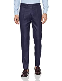 Raymond Men's Pleat-Front Formal Trousers