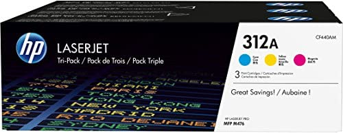 HP 312A 3er-Pack (CF440AM) Blau/Rot/Gelb Original Toner für HP Color Laserjet Pro MFP M476