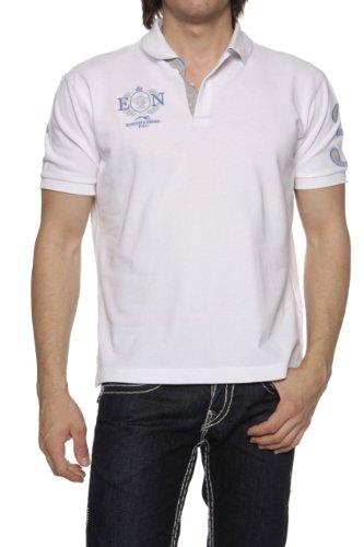 Etiqueta Negra Herren Shirt Poloshirt SLIM FIT, Farbe: Weiss, Größe: XS