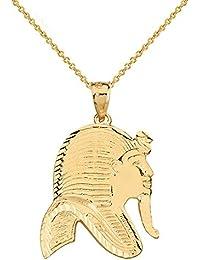Gelb Gold Hochzeit Ring Tutanchamun Diamond Schwarze Emaille Ägyptischer König
