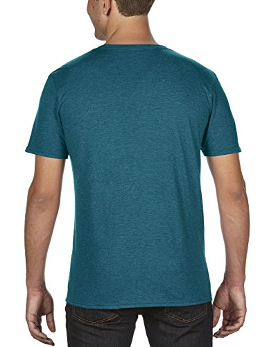 anvil Herren Tri-Blend Basic Tee / 6750 Blau (Heather Galapagos Blue 480)