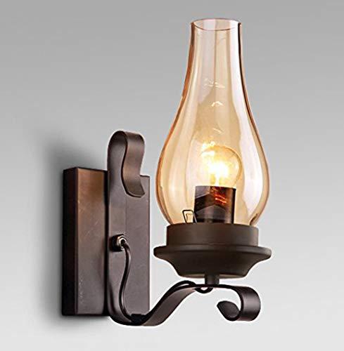American Viento Industrial Retro Queroseno lámpara de Pared Restaurante Escalera Pasillo de Hierro...