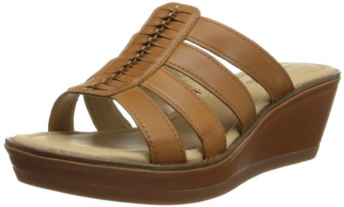 Hush Puppies  Roux Slide, Semelle compensée femme Tan Leather
