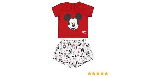 T-Shirt und Kurzes Set Disney Mickey Mouse Baby Jungen Pyjamas 12 bis 36 Monate Baby Pyjama-Set Atmungsaktive und Gem/ütliche Sommer-Pyjamas Super Weiche Geschenk f/ür Jungen