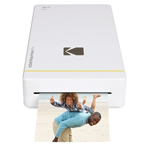 Kodak PM - Stampante fotografica mini con dock per iPhone e Android, bianco