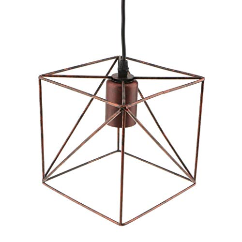 Oudan Cube Lampenschirm Kronleuchter Schatten Deckenleuchte Käfig Schatten Anhänger Lichter Leuchte Heimwerker Kupfer (Farbe : -, Größe : -) -