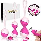 Liebeskugeln für Frauen Beckenbodentraining Kegel Ball Kit,100% Silikon mit 10 verschiedene...