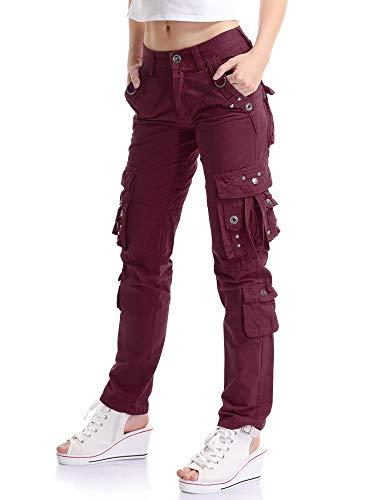 OCHENTA Mujer Uniform Combat Cargo 8 Bolsillos Seguridad
